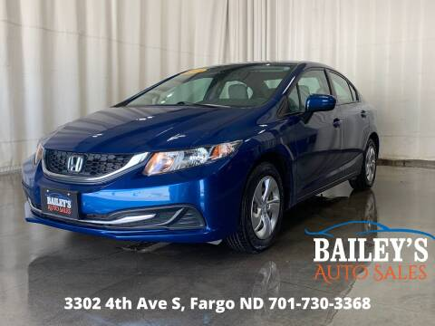 2015 Honda Civic for sale at Bailey's Auto Sales in Fargo ND