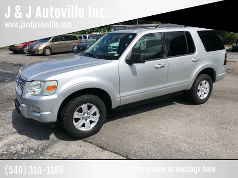 2010 Ford Explorer for sale at J & J Autoville Inc. in Roanoke VA