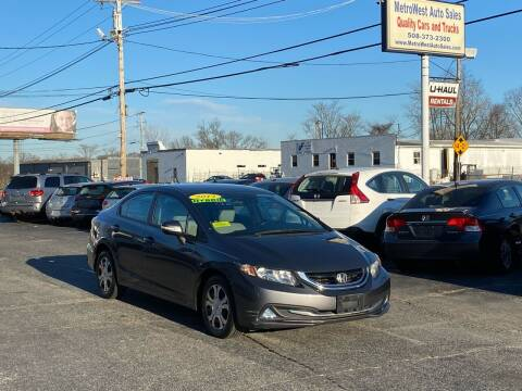 2013 Honda Civic for sale at MetroWest Auto Sales in Worcester MA
