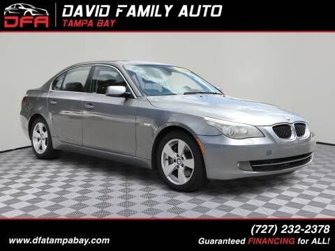 2008 BMW 5 Series for sale at David Family Auto in New Port Richey FL