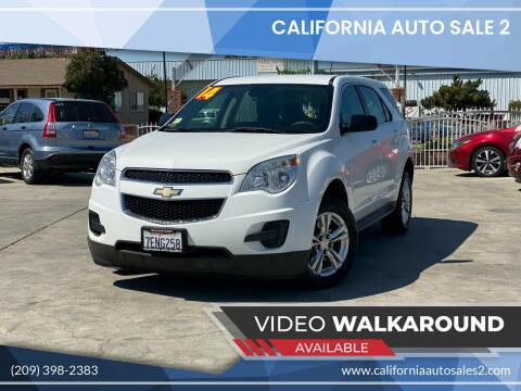 2014 Chevrolet Equinox for sale at CALIFORNIA AUTO SALE 2 in Livingston CA