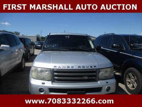 2008 Land Rover Range Rover Sport for sale at First Marshall Auto Auction in Harvey IL