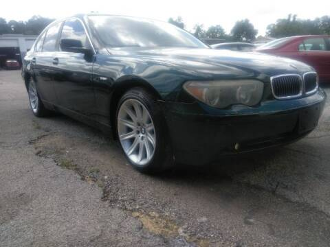 2002 BMW 7 Series for sale at JacksonvilleMotorMall.com in Jacksonville FL