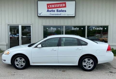 2011 Chevrolet Impala for sale at Certified Auto Sales in Des Moines IA