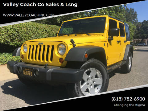 2008 Jeep Wrangler Unlimited for sale at Valley Coach Co Sales & Lsng in Van Nuys CA