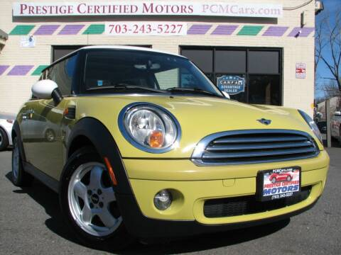 2010 MINI Cooper for sale at Prestige Certified Motors in Falls Church VA