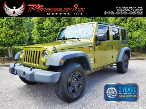 2010 Jeep Wrangler Unlimited for sale at Phoenix Motors Inc in Raleigh NC