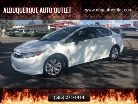 2012 Honda Civic for sale at ALBUQUERQUE AUTO OUTLET in Albuquerque NM