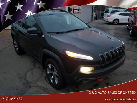 2014 Jeep Cherokee for sale at D & D Auto Sales Of Onsted in Onsted   Brooklyn MI
