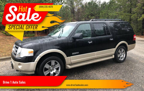 2007 Ford Expedition EL for sale at Drive 1 Auto Sales in Wake Forest NC