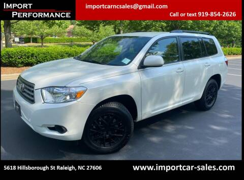 2008 Toyota Highlander for sale at Import Performance Sales in Raleigh NC