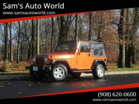 2002 Jeep Wrangler for sale at Sam's Auto World in Roselle NJ