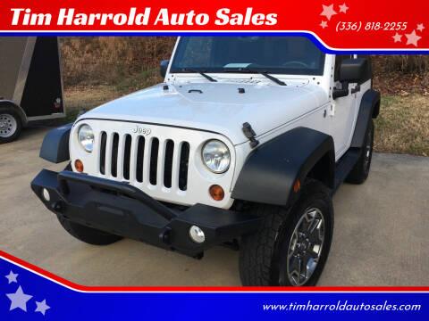 2013 Jeep Wrangler for sale at Tim Harrold Auto Sales in Wilkesboro NC