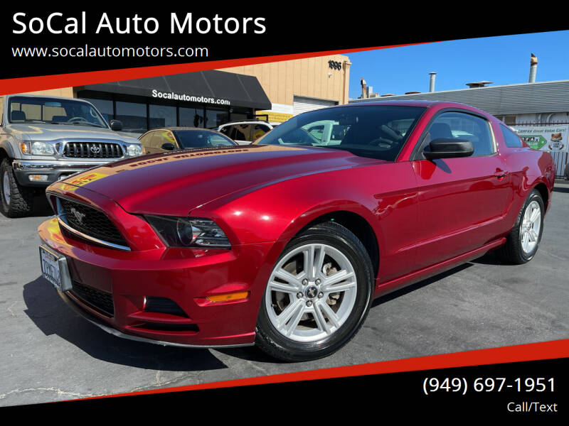 2014 Ford Mustang for sale at SoCal Auto Motors in Costa Mesa CA