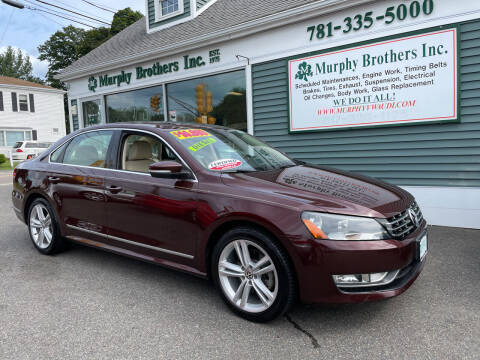 2013 Volkswagen Passat for sale at MURPHY BROTHERS INC in North Weymouth MA