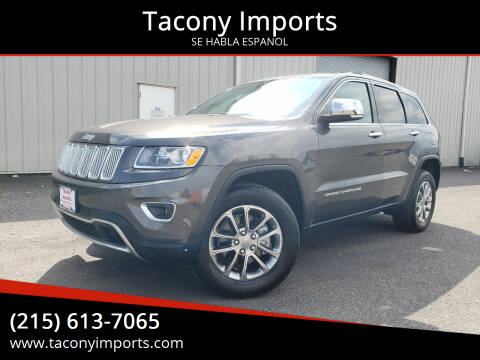 2014 Jeep Grand Cherokee for sale at Tacony Imports in Philadelphia PA