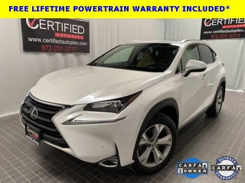 2017 Lexus NX 200t for sale at CERTIFIED AUTOPLEX INC in Dallas TX