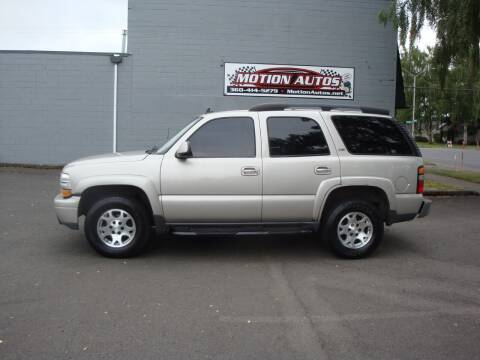 2006 Chevrolet Tahoe for sale at Motion Autos in Longview WA