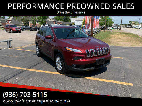 2018 Jeep Cherokee for sale at PERFORMANCE PREOWNED SALES in Conroe TX