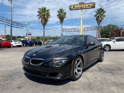 2010 BMW 6 Series for sale at A MOTORS SALES AND FINANCE in San Antonio TX