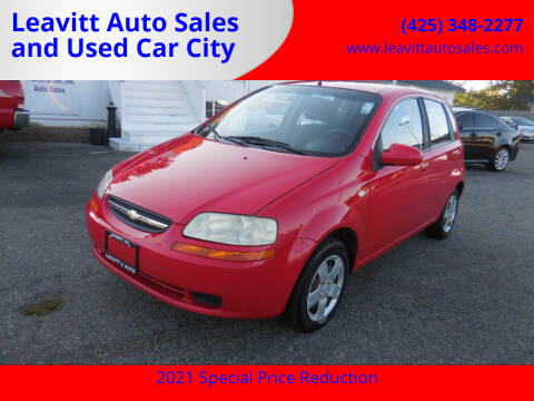 2008 Chevrolet Aveo for sale at Leavitt Auto Sales and Used Car City in Everett WA