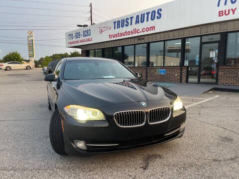 2012 BMW 5 Series for sale at Trust Autos, LLC in Decatur GA
