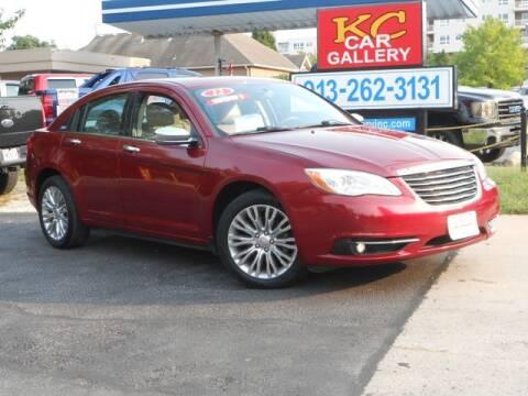 2012 Chrysler 200 for sale at KC Car Gallery in Kansas City KS