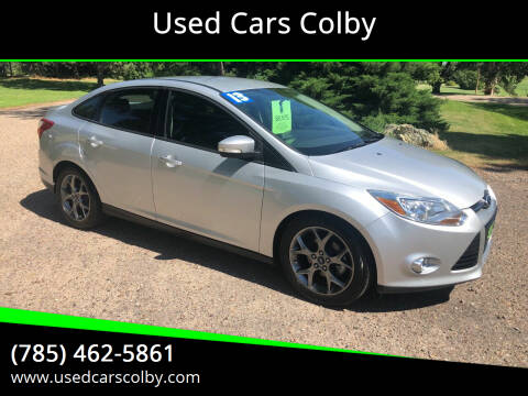 2013 Ford Focus for sale at Used Cars Colby in Colby KS