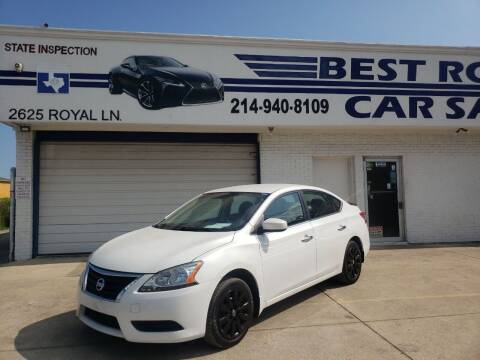 2015 Nissan Sentra for sale at Best Royal Car Sales in Dallas TX