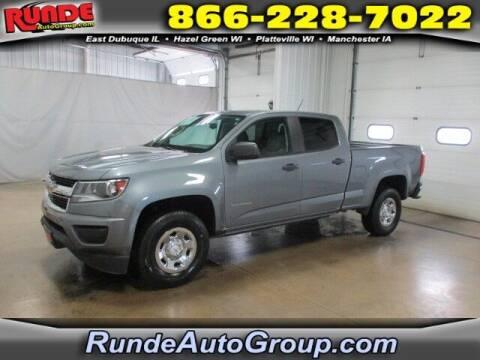 2018 Chevrolet Colorado for sale at Runde PreDriven in Hazel Green WI