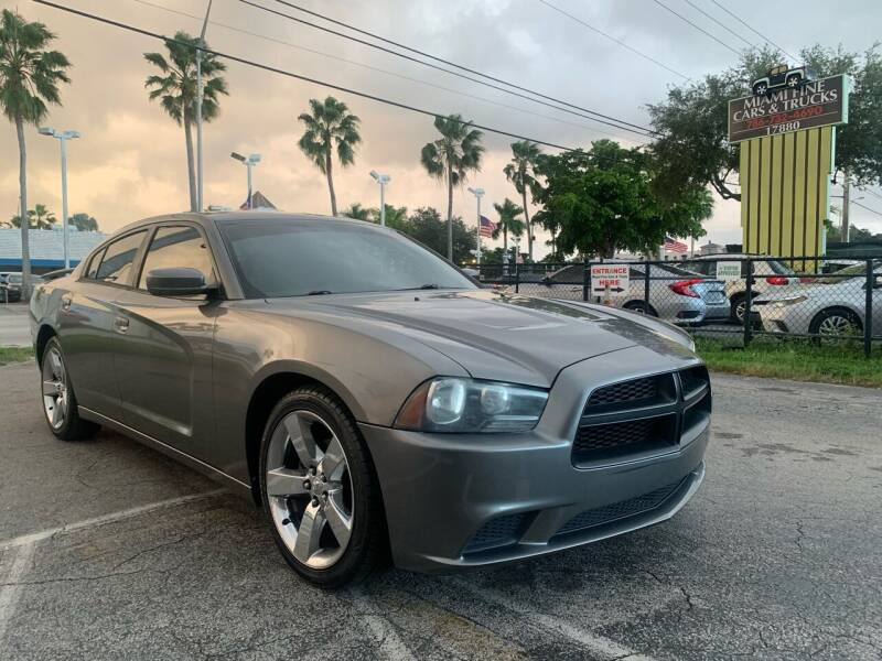 2012 Dodge Charger for sale at MIAMI FINE CARS & TRUCKS in Hialeah FL
