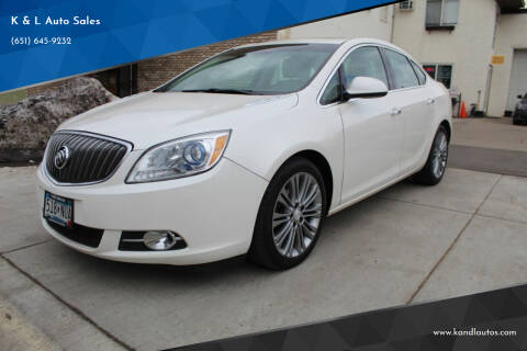 2012 Buick Verano for sale at K & L Auto Sales in Saint Paul MN