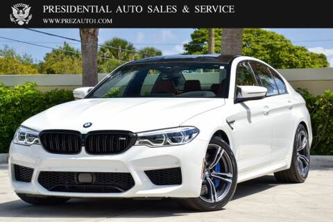 2020 BMW M5 for sale at Presidential Auto  Sales & Service in Delray Beach FL