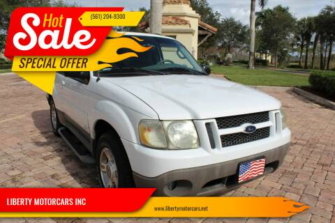 2003 Ford Explorer Sport for sale at LIBERTY MOTORCARS INC in Royal Palm Beach FL