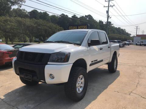 2009 Nissan Titan for sale at Oceana Motors in Virginia Beach VA