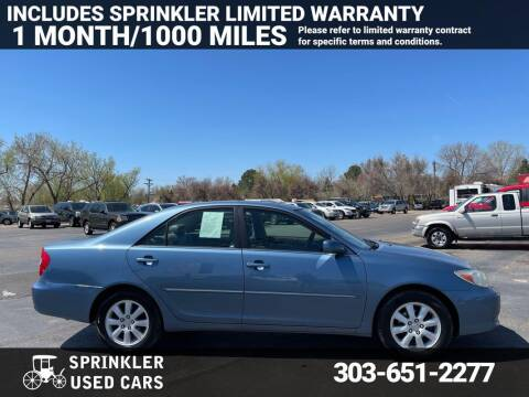 2002 Toyota Camry for sale at Sprinkler Used Cars in Longmont CO
