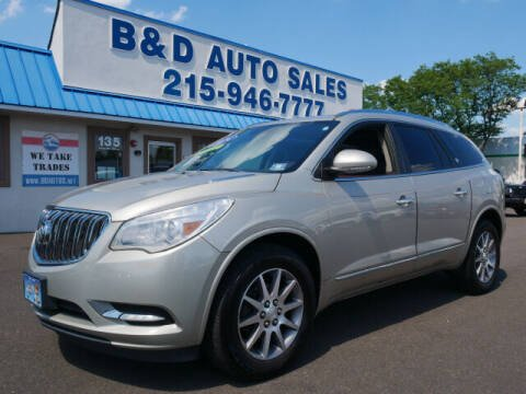 2014 Buick Enclave for sale at B & D Auto Sales Inc. in Fairless Hills PA