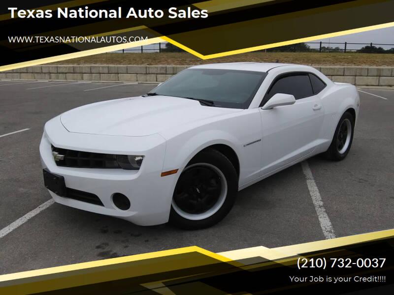 2013 Chevrolet Camaro for sale at Texas National Auto Sales in San Antonio TX