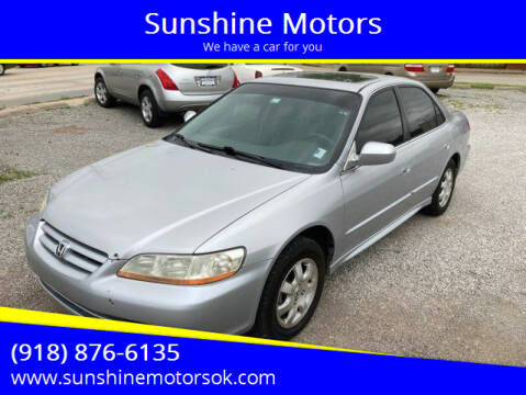 2002 Honda Accord for sale at Sunshine Motors in Bartlesville OK