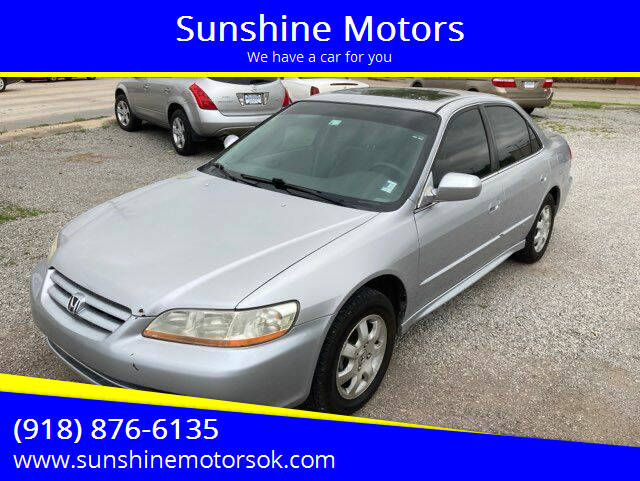 2002 Honda Accord for sale at Sunshine Motors in Bartlesville OK