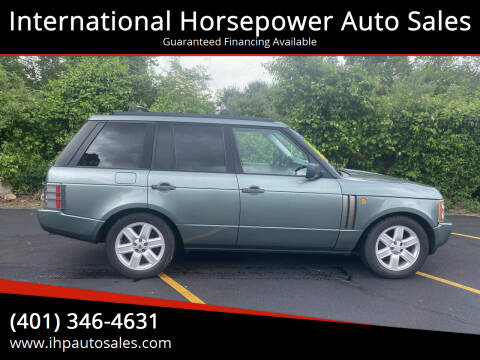 2004 Land Rover Range Rover for sale at International Horsepower Auto Sales in Warwick RI