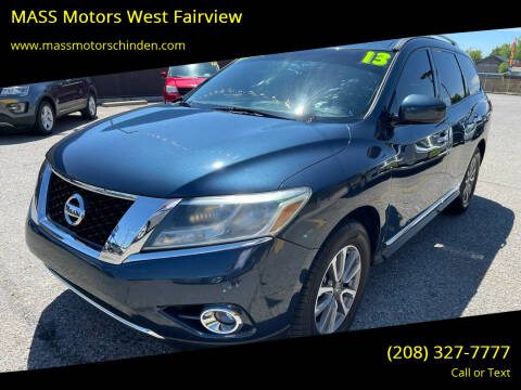 2013 Nissan Pathfinder for sale at MASS Motors West Fairview in Boise ID