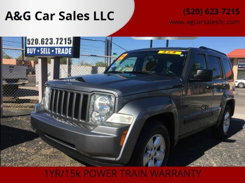 2012 Jeep Liberty for sale at A&G Car Sales  LLC in Tucson AZ