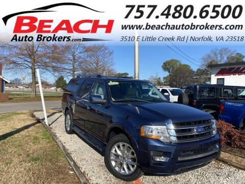2015 Ford Expedition EL for sale at Beach Auto Brokers in Norfolk VA