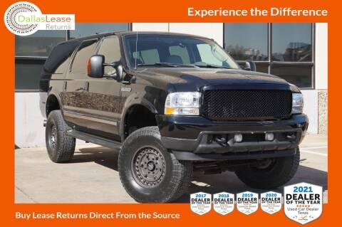 2004 Ford Excursion for sale at Dallas Auto Finance in Dallas TX