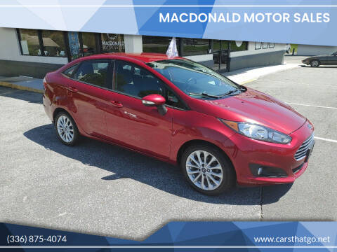 2014 Ford Fiesta for sale at MacDonald Motor Sales in High Point NC