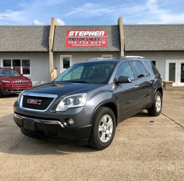 2012 GMC Acadia for sale at Stephen Motor Sales LLC in Caldwell OH