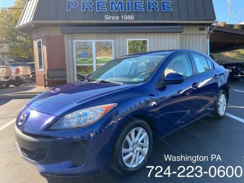 2012 Mazda MAZDA3 for sale at Premiere Auto Sales in Washington PA