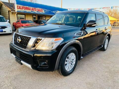 2017 Nissan Armada for sale at California Auto Sales in Amarillo TX