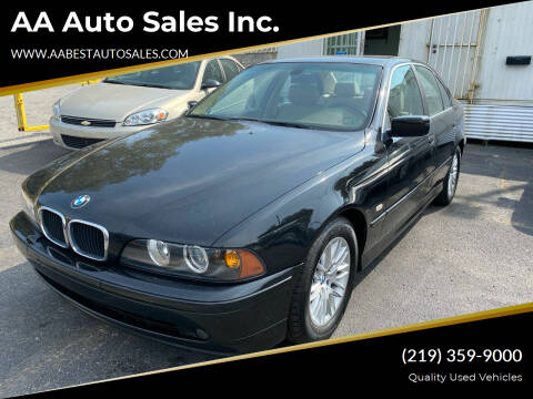 2002 BMW 5 Series for sale at AA Auto Sales Inc. in Gary IN